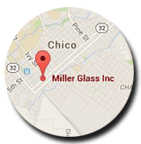 Chico California Glass map